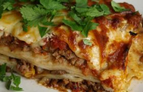 Cómo preparar lasaña mexicana